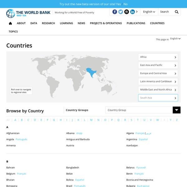 Verdensbanken - Lande