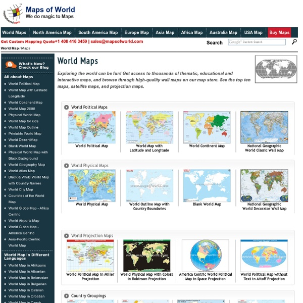 World Maps Online - Countries, Political, Physical, Location, Thematic, Educational