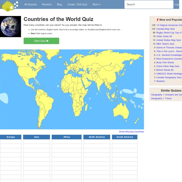 Countries Of The World Quiz Pearltrees - Countries of the world quiz