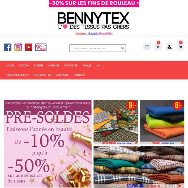 Vente de tissu au mètre de qualité a des prix pas cher - Bennytex