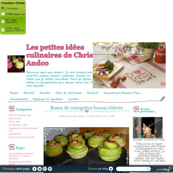 Roses de courgettes bacon/chèvre - Les petites idées culinaires de Chris Andco