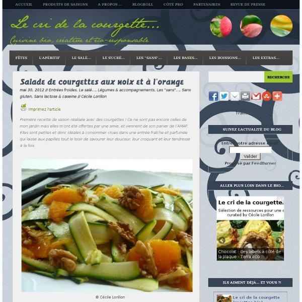 Salade de courgettes aux noix et à l'orange