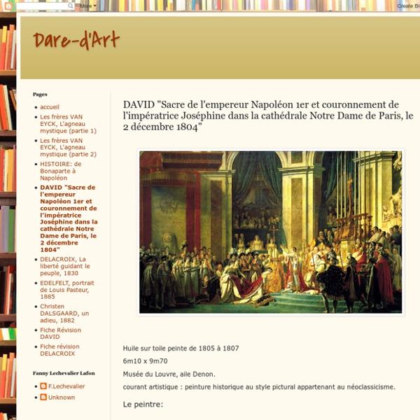 """DAVID """"Sacre de l'empereur Napoléon 1er et couronnement de l'impératrice Joséphine dans la cathédrale Notre Dame de Paris, le 2 décembre 1804"""""""