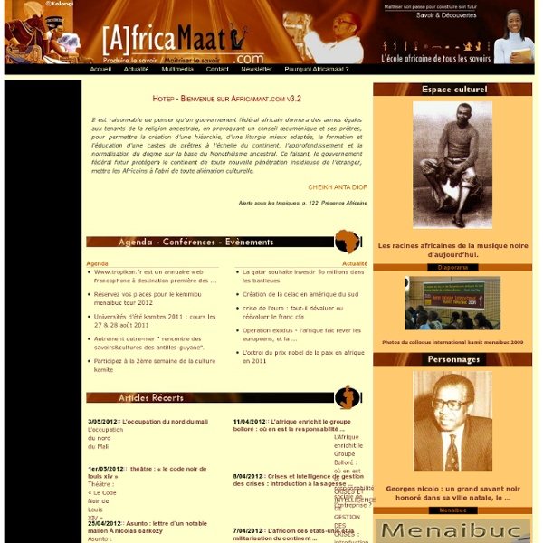 AfricaMaat: L'école africaine de tous les savoirs