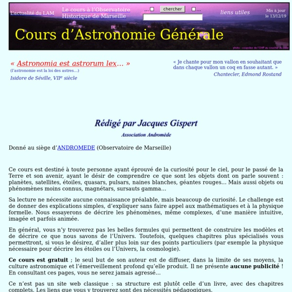 Cours d'Astronomie