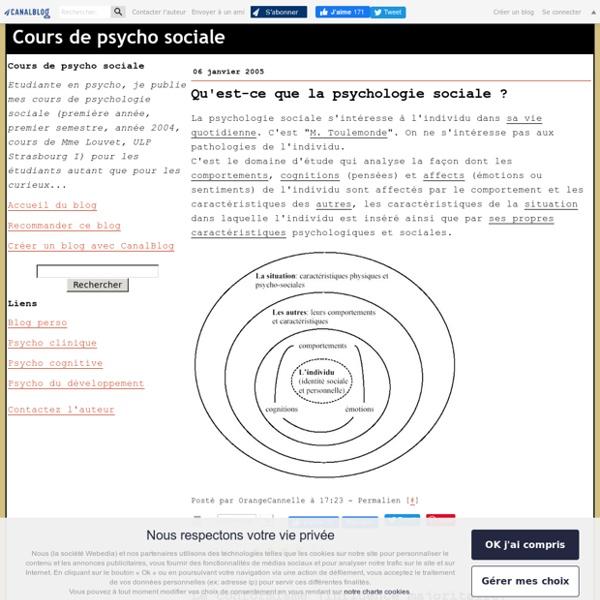 Cours de psycho sociale