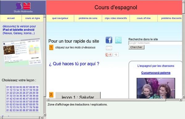 Cours d'espagnol gratuit en ligne