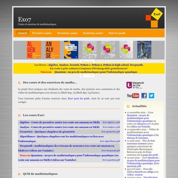 Exo7 : Cours et exercices de mathématiques