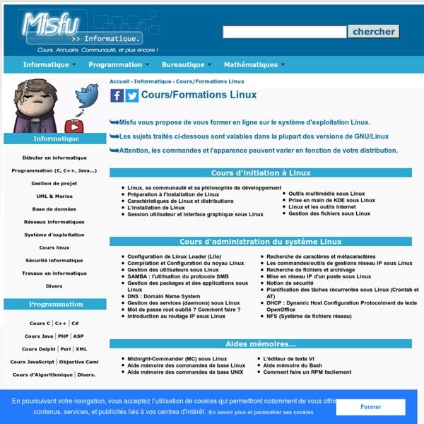 Cours et formations Linux