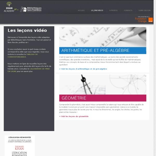 Leçons vidéo