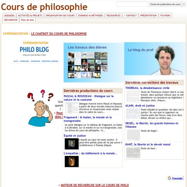 Cours de philosophie (François Jourde)