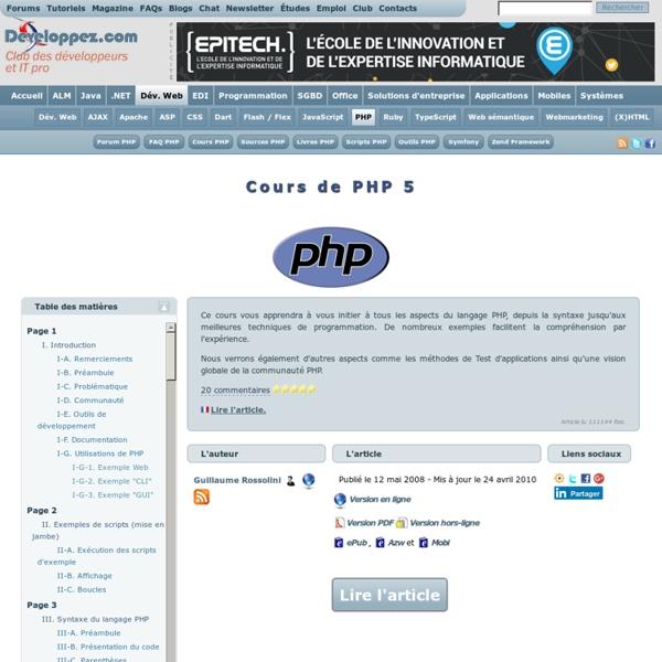 Cours de PHP 5