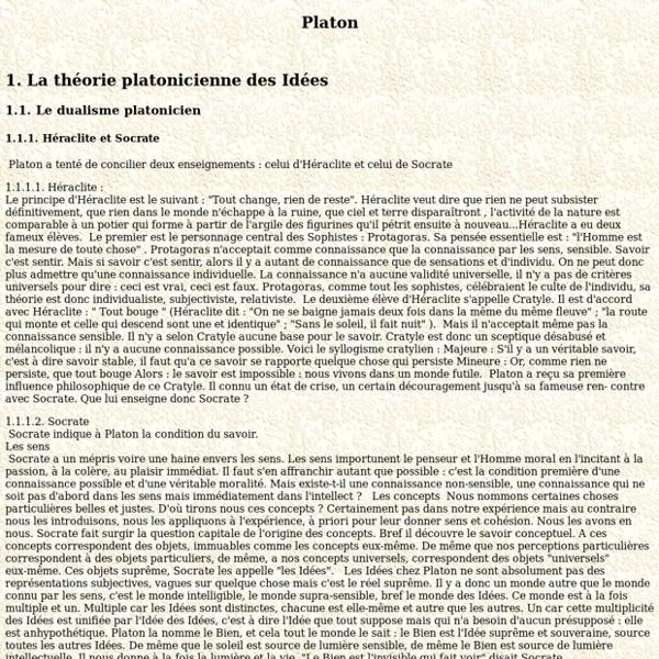 Cours sur Platon