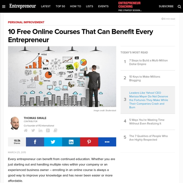 10 Free Online Courses That Can Benefit Every Entrepreneur