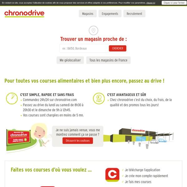 Courses drive, courses en ligne, magasin drive, courses sur internet - Chronodrive