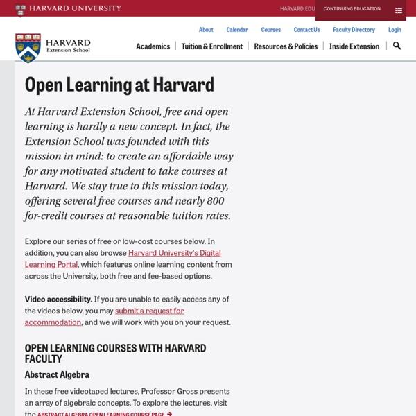 Harvard Open Courses