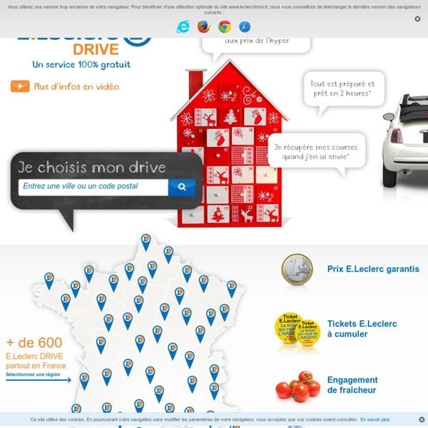 Courses en ligne – Supermarché en ligne E.Leclerc DRIVE