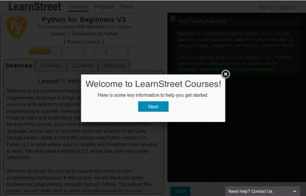 Online Python Courses & Tutorials