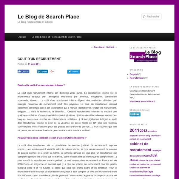 Le Blog de Search Place
