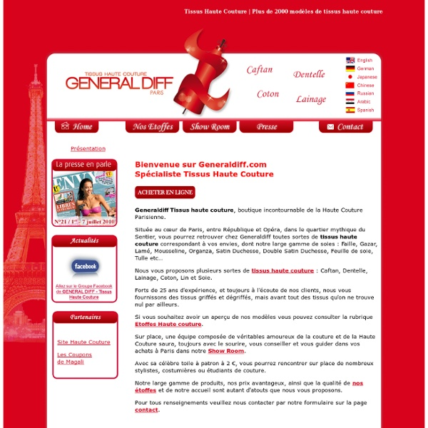 Acheter Tissus haute Couture à Paris