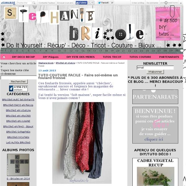 TUTO COUTURE FACILE – Faire soi-même un foulard froissé