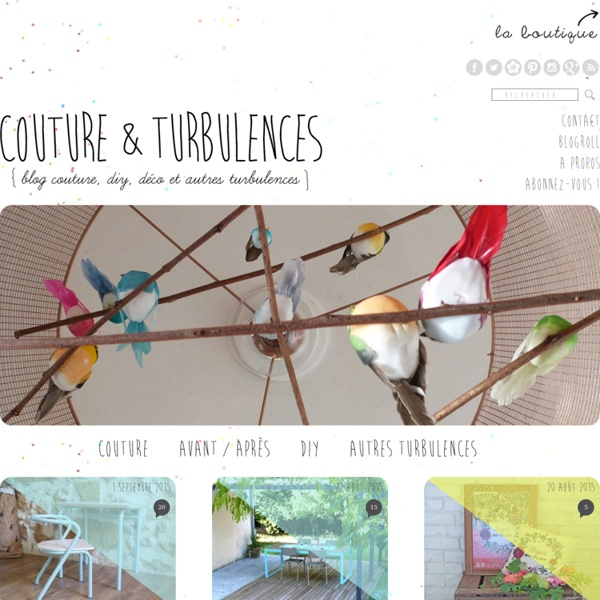 Couture et turbulences - Blog couture, DIY, déco...
