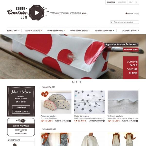 cours cours de couture en vid o patrons de v tements et formation en ligne. Black Bedroom Furniture Sets. Home Design Ideas