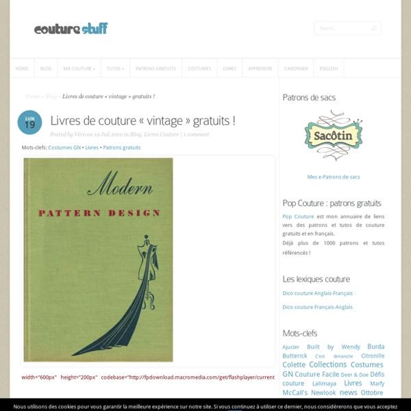 Livres de couture «vintage» gratuits !