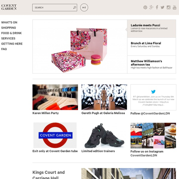 Covent Garden website