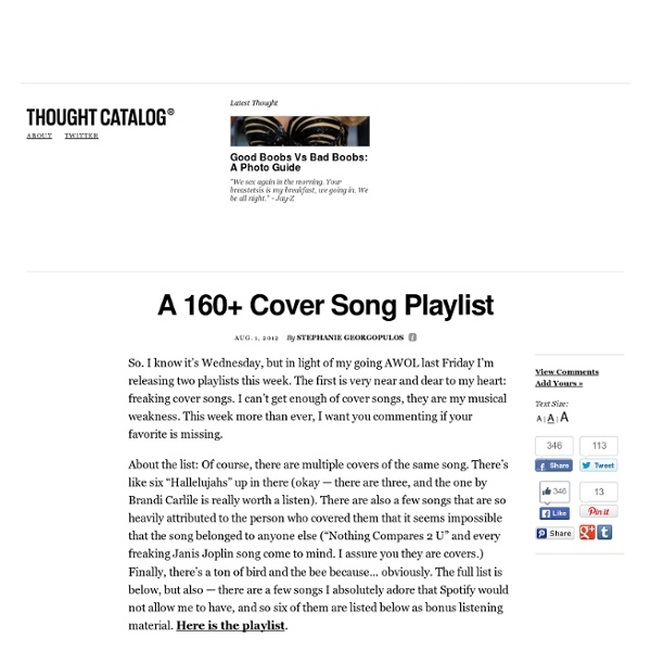 A 160+ Cover Song Playlist