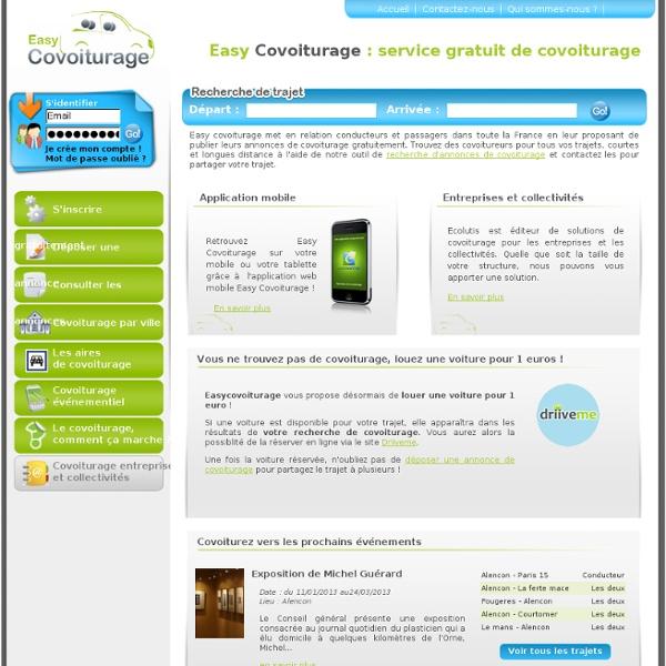 Covoiturage gratuit en France (fr) - Service gratuit de covoiturage