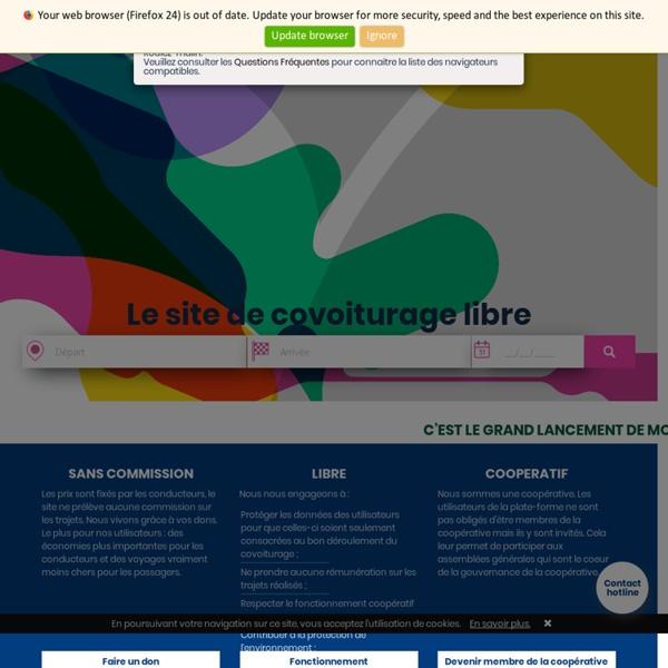 Covoiturage-libre.fr, le covoiturage gratuit et collaboratif