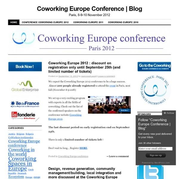 The first European conference on coworking (November 19-20th, Brussels)
