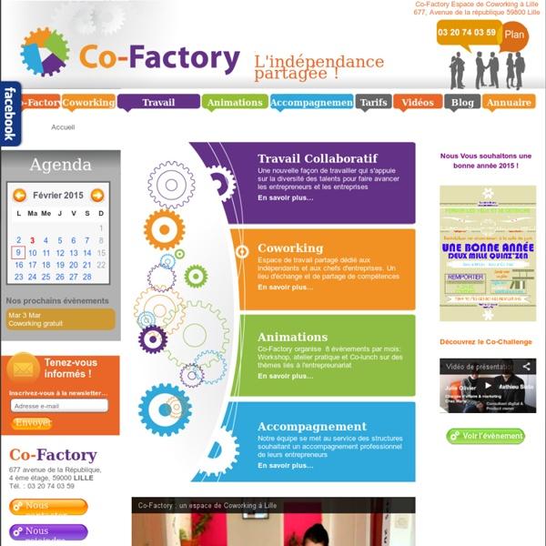 Co-Factory : Coworking & centre de formation pour entrepreneurs à Lille