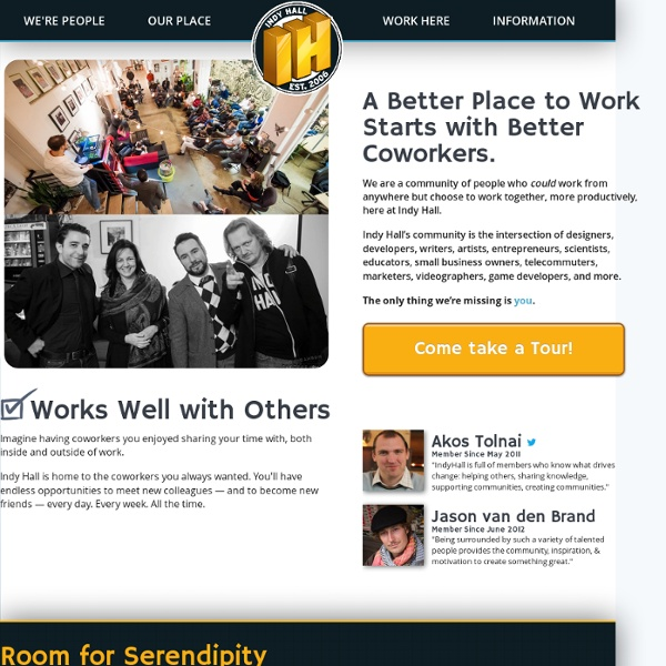 Coworking in Philadelphia - Indy Hall - a Community and Workspace - Est. 2006