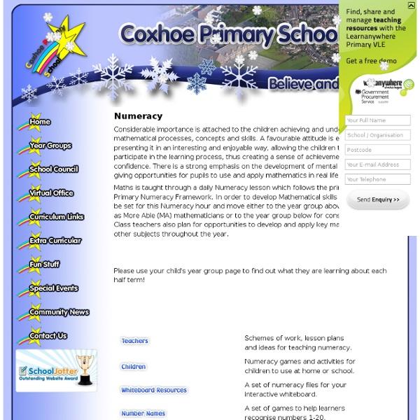 Coxhoe Primary School - Numeracy