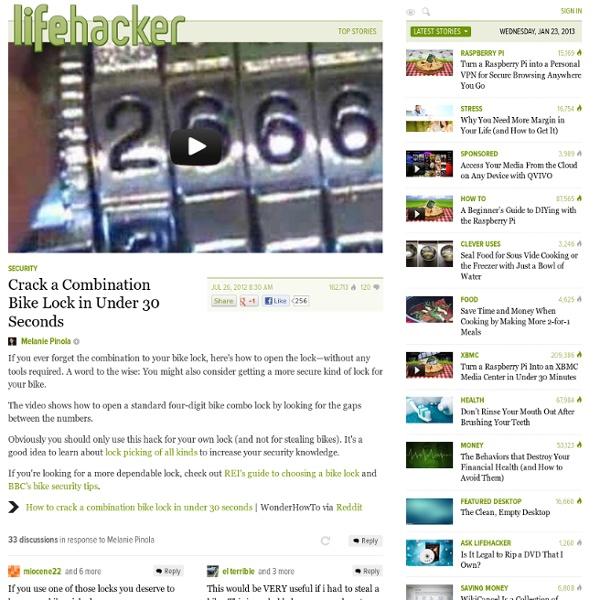 Crack a Combination Bike Lock in Under 30 Seconds