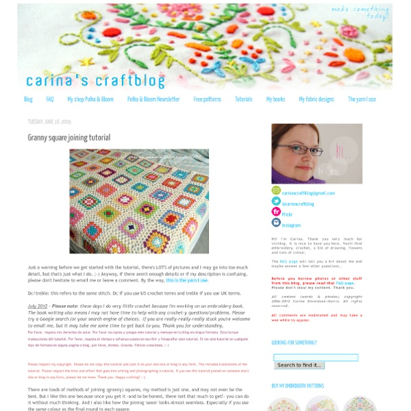 Carina's Craftblog: Granny square joining tutorial