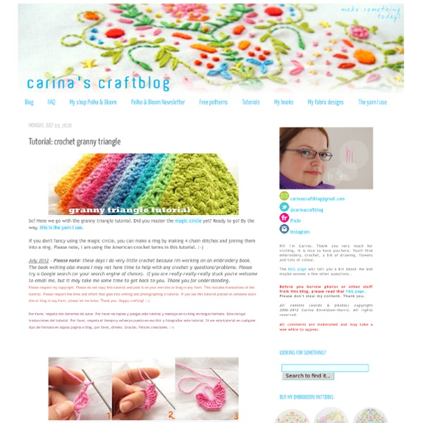 Carina's Craftblog: Tutorial: crochet granny triangle