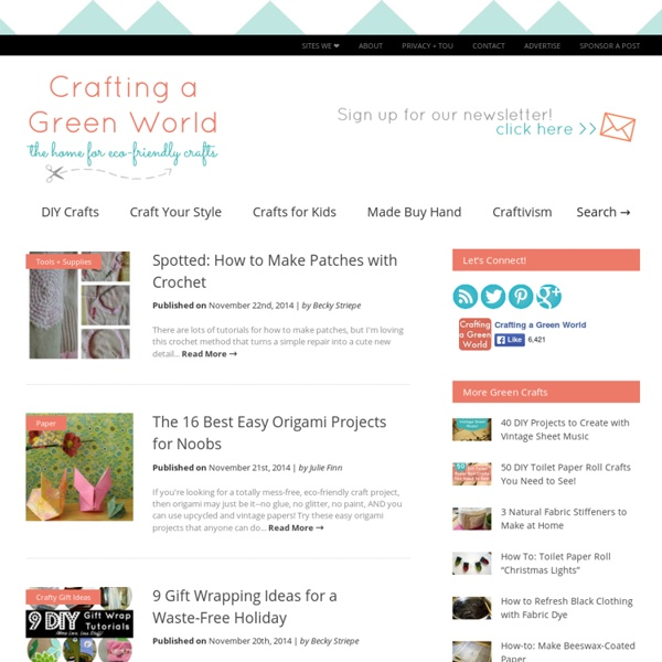 The home for green crafts and tutorials!