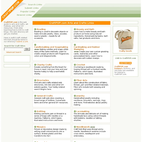CraftPOP.com Arts and Crafts Links Directory: Main