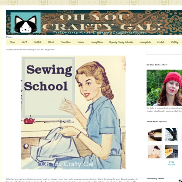 Start Our Free Online Sewing Class For Beginners