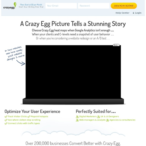 Crazy Egg - Visualize where your visitors click