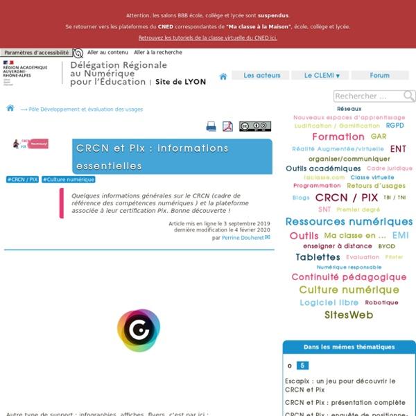 CRCN et Pix : informations essentielles