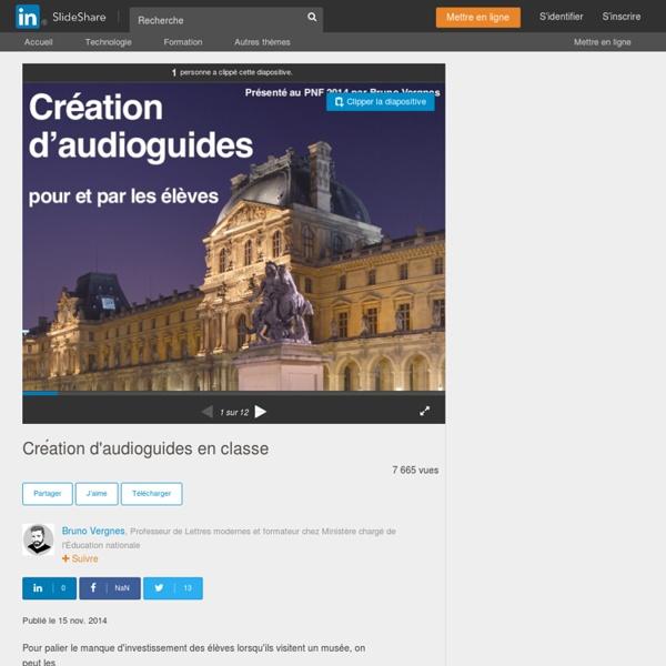 Création d'audioguides en classe