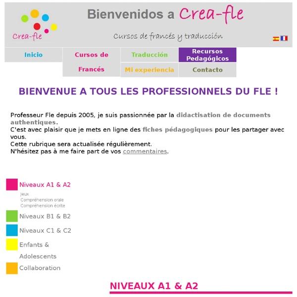 Fiches pédagogiques Fle A1 A2 - Jeux fle