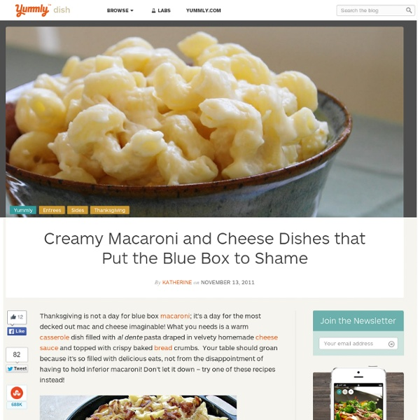 Creamy Macaroni and Cheese Dishes that Put the Blue Box to Shame