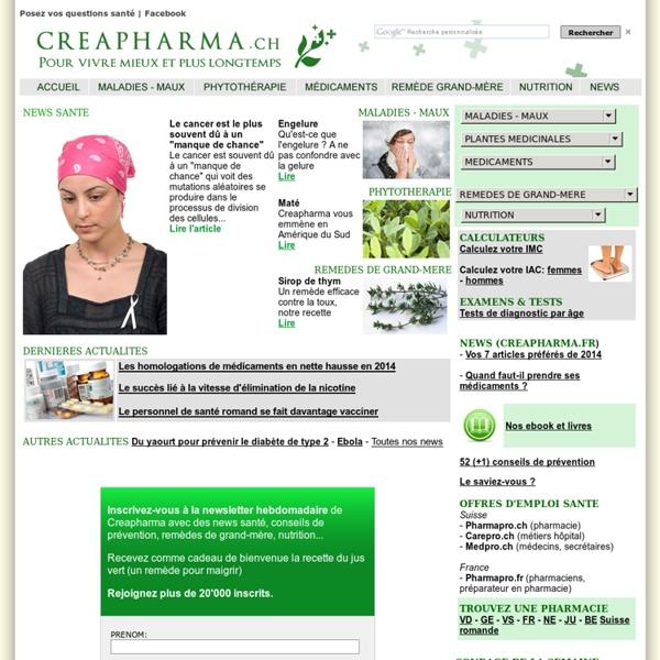 Creapharma.ch (site sur la santé)