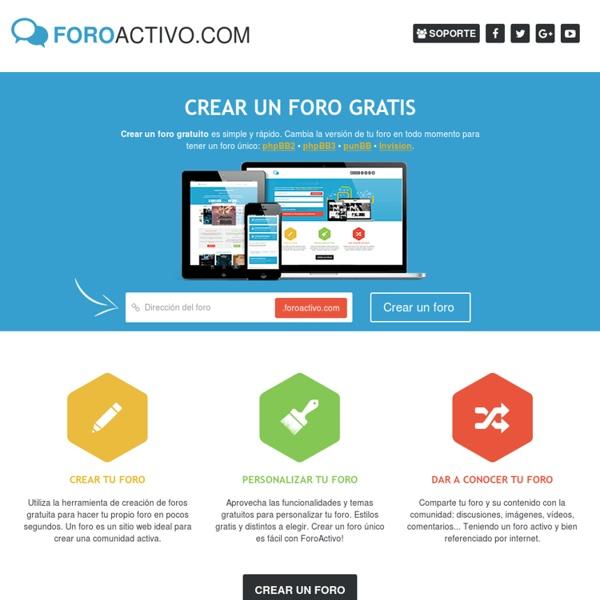 Crear un foro gratis - FOROACTIVO.COM