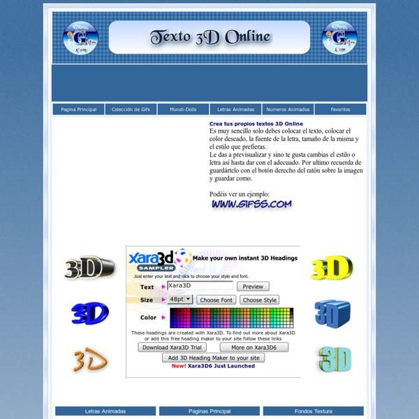 Crear texto 3D Online